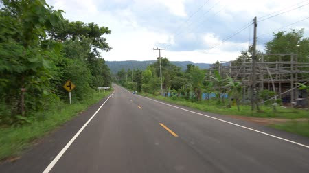 dançarinos : The road head to Dan Sao Koi mountain, Nakae, Nakhon Phanom, Thailand Stock Footage
