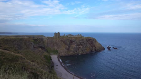 Dunnottar castle in Scotland, England in summer 2018
