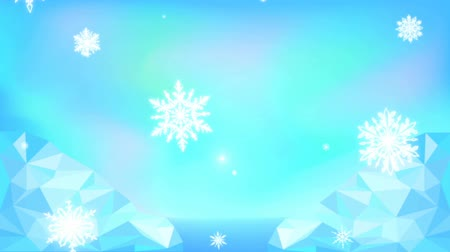 polo nord : snowflakes falling 2d animation for background Filmati Stock