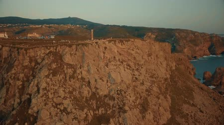 lisabon : Aerial view on Cabo da Roca during sunset.