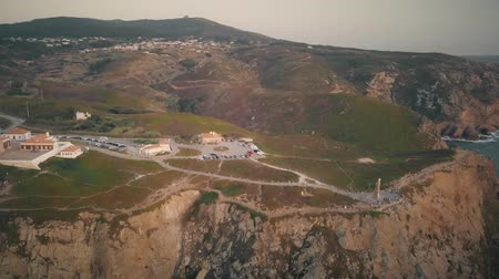 континентальный : Aerial view on Cabo da Roca during sunset.