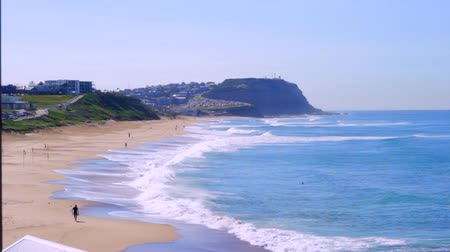 australian landscape : Waves on a Sandy Beach and Headland