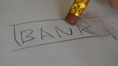 borracha : Pencil erasing removing bank word