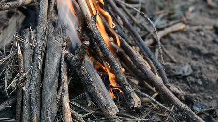 kamp ateşi : small campfire in the camp