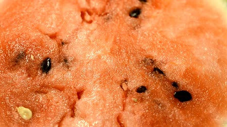 rind : Red food background and textures. watermelon Stock Footage