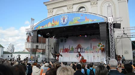 tiyatro : MINSK, BELARUS - September 21, 2018. Day of Indian Culture in Minsk.