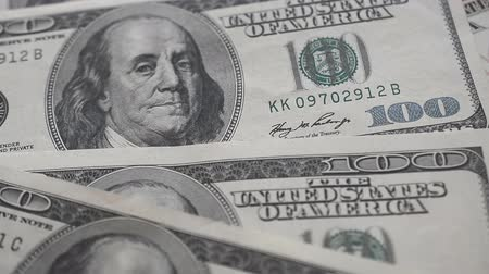 one hundred : one hundred us dollar banknote Stock Footage