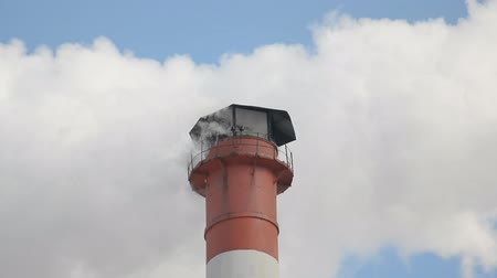 dioxid : Air Pollution factory pipe over blue sky