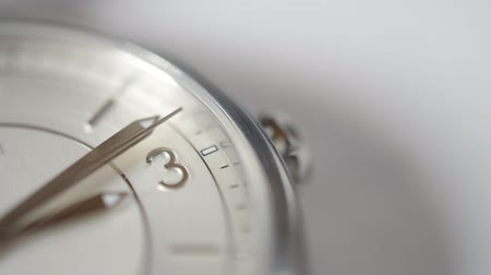 basic shape : White clock face close up macro HD stock footage copyspace, suggesting the passing of time abstract