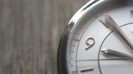 horas : Clock face time copyspace stock footage. Stock Footage