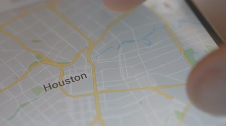 positionnement : Minsk, Biélorussie - Mai 2019: Houston phone map USA City
