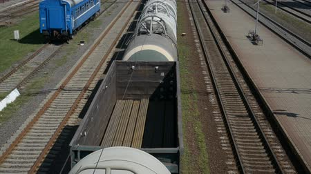 oroszország : a train with freight cars carrying liquefied gas tanks hd stock footage