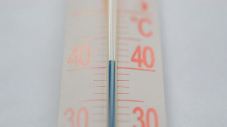 Thermometer on white hot weather In Summer concept hd, up blue scale