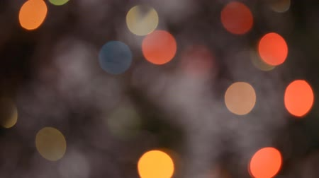 brilhantemente : Christmas Bokeh Lights background abstract holiday, defocused light Vídeos