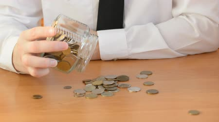 financial independence concept, coins in the table