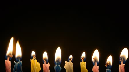 pite : Set of cake candle on a black background with copyspace hd stock footage