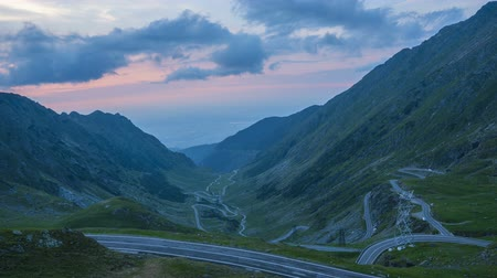 karpaty : Timelapse of the unique Road of Romania Transfagaraseanu