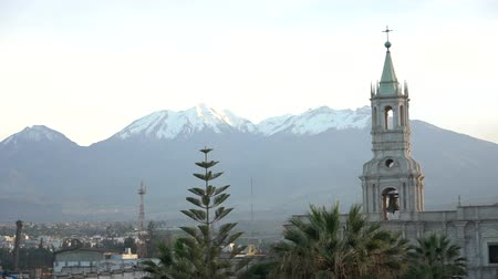 colonial : Arequipa Plaza de Armas Morning Shot Peru