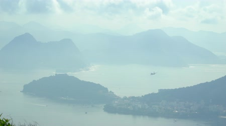 sugar loaf : Rio De Janeiro Sugarloaf Mountain and Cityscape Brazil Stock Footage