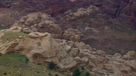 the bedouin : Petra Jordan, one of the wonders of the World Stock Footage