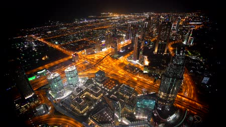 khalifa : Dubai Beautiful Buildings in United Arab Emirates Stock Footage