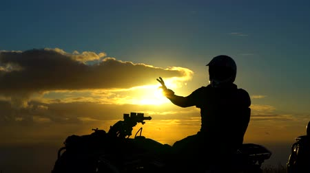 rapa : Me on ATV with the Sunset behind
