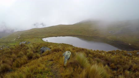 Перу : Santa Cruz Trekking Huaraz Mountains Стоковые видеозаписи