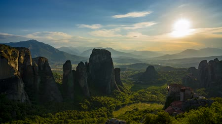 evangelical : Meteora Sunset Stone Timelapse with the Sunset