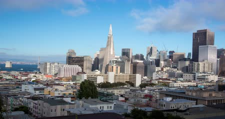 секунды : San Francisco. A Panoramic Skyline View of Downtown and the Financial district.