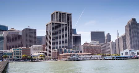 San Francisco. A zoom out time lapse view of downtown San Francisco. Stock Footage