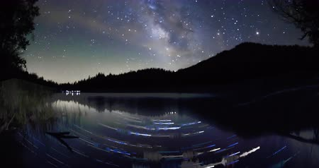 горный хребет : Milky Way over Letts Lake, Mendocino County, California Стоковые видеозаписи