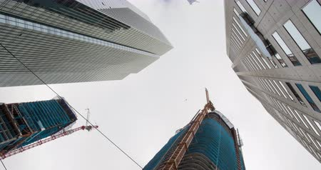 San Francisco Skyscrapers. Building the new Skyline in San Francisco. Rotating view. Stock Footage