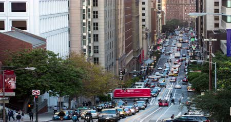 kabel : San Franciscos Famous California Street. Wideo