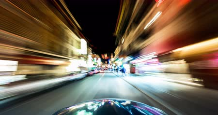 greater : City Night Driving Time Lapse. Driving in Downtown San Francisco. Stock Footage
