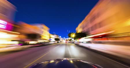 greater : City Night Driving Time Lapse. Driving in the Marina District of San Francisco. Stock Footage