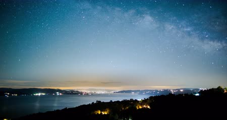 greater : Milky Way Rising Over Clearlake, California