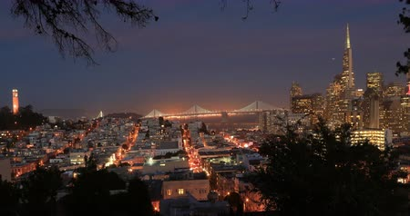 greater : Panoramic San Francisco Sunset View.