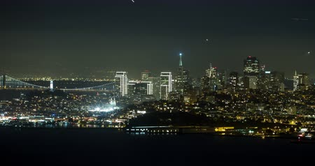 greater : San Francisco at Night. Stock Footage