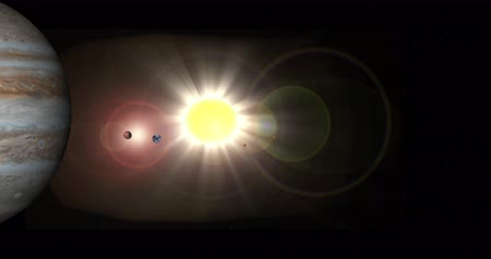 солнечный : Solar System. All 9 Planets fly by in this 25 second film.