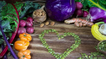 Vegetable Heart Animation for Healthy Eating Stock Footage