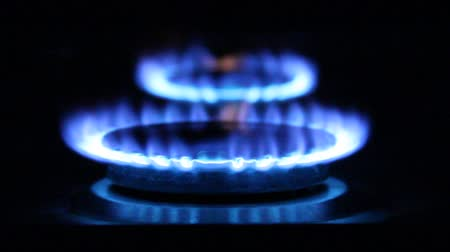 fogão : gas flame. Natural Gas Of a gas stove