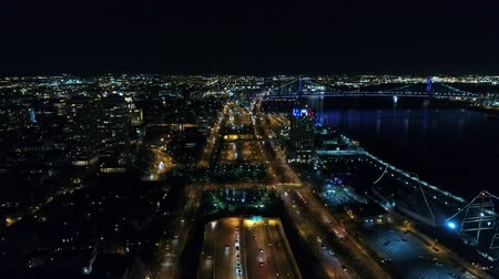skate : Aerial View Center City Philadelphia & Surrounding Area at Night