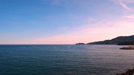 Panorama of the sea. Timelapse