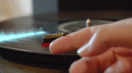 gramophone : Close up of manual turntable FDV