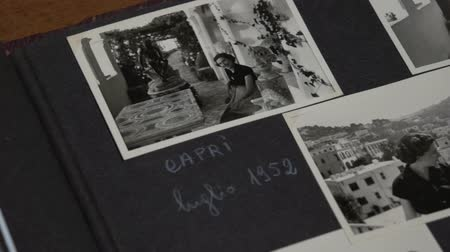 photo album : Overview of some vintage photos at Capri. FDV Stock Footage