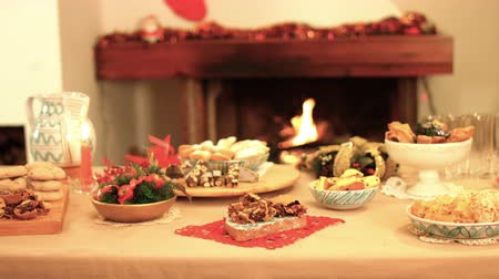 a beatiful Italian Christmas and warmth with many cakes. k44 SF