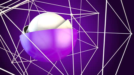 digitální umění : Ball Plexus Purple Animation Loop is an abstract animation with interesting motion and geometry. Great background plate for any edgy production.