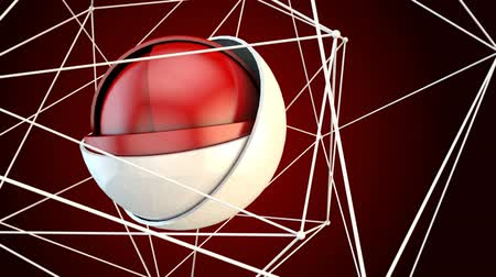 zajímavý : Ball Plexus Red Animation Loop is an abstract animation with interesting motion and geometry. Great background plate for any edgy production.