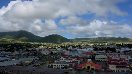 Timelapse of the port of St. Kitts. Panning right to left.