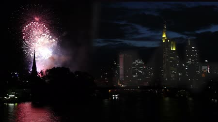 Франкфурт : Firework over the sky of Frankfurt Germany